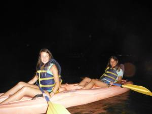 Kayaking at Glowing Bay in Laguna Grande