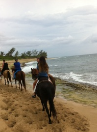Horsebackriding at the beach with Bibi and Marina