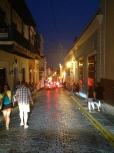 Old San Juan at night