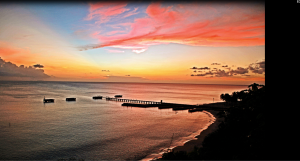 Sunset at Crashboat in Aguadilla by Jerry Valentín