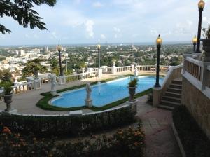 View and patio of Castillo Serralles